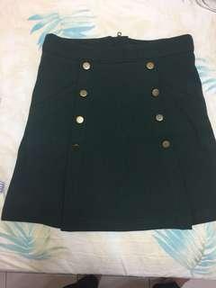 🚚 Air space-軍綠色貼身包臀短裙