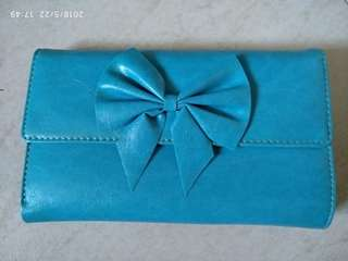 Butterfly blue wallet, new,#july18sales