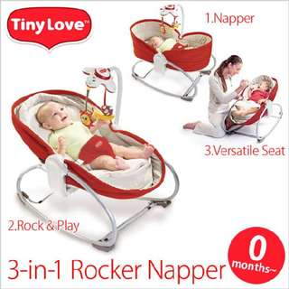 Tiny Love 3 in 1 Rocker Napper (RED)