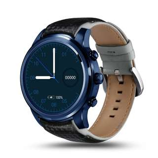 LEMFO LEM5 PRO Watch Phone-1 IMEI, 3G, WiFi, Music, Pedometer, Heart Rate, Android OS (Blue) (CVAIA-W092)