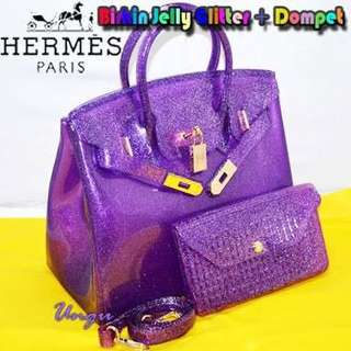 DICARI tas jelly dompet jelly