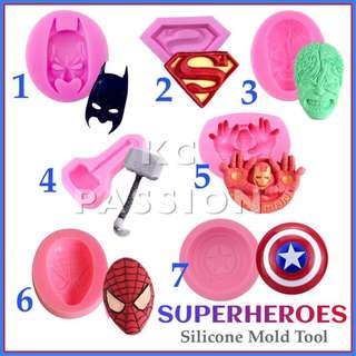 ⚡️SUPERHERO SILICONE MOLD TOOL for Pastry • Chocolate • Fondant • Gum Paste • Candy Melts • Jelly • Gummies • Agar Agar • Ice • Resin • Polymer Clay Craft Art • Candle Wax • Soap Mold • Chalk • Crayon Mould •