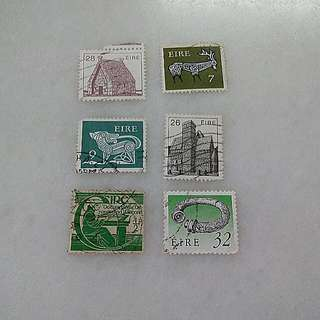 Ireland Stamps 6V Used #3
