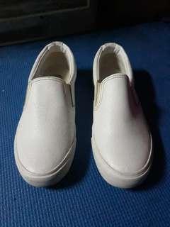 White Slip Ons