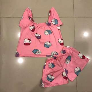 Off shoulder terno for kids