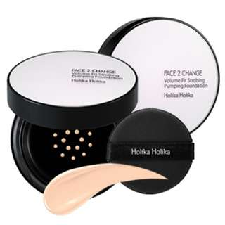 Holika Holika Face2Change Volume Fit Strobing Pumping Foundation (15g + Refill)