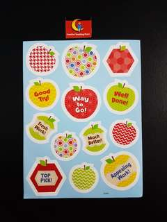 [INSTOCK] BN HexaFun Apples Reward/Merit Stickers (Creative Teaching Press)