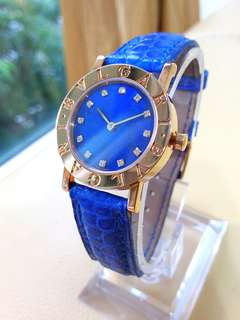 Bvlgari 18k Gold Diamonds Ladies Quartz