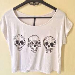 skull crop top
