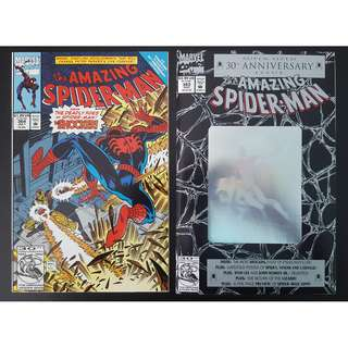 "Amazing Spider-Man #364,#365 (1992, 1st Series) Set of 2, Giant-Sized 30th Anniversary issue,1ST appearance of Spider-Man 2099! All-Time Favorite Spidey Artist ""Magic"" Mark Bagley!"
