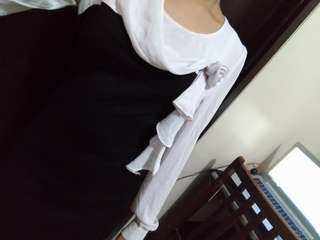 Black and White Dress with Ribbon D28
