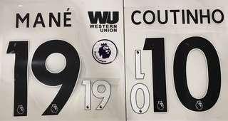 17/18 Liverpool 2nd/3rd Kits nameset+sponsor+patch