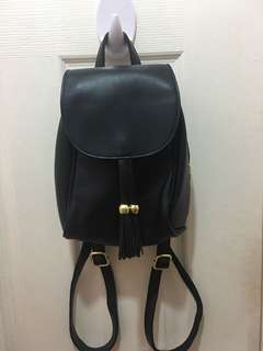Leather bagpack from HK