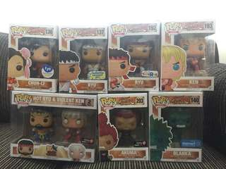 Street Fighter Funko Pop Exclusives Set