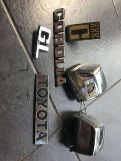 Lampu nomor dan emblem corolla DX GT 80