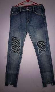 Jeans jaring korea