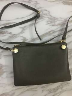 Authentic Furla Sling bag Olive green 斜咩袋