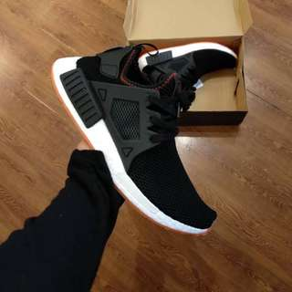 Adidas NMD XR1 Contrast Stitch Pack Core Black Solar Red