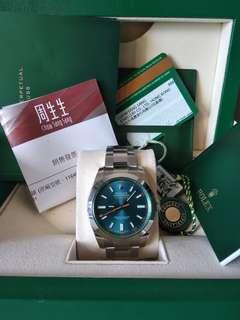 Rolex 閃電針 116400 藍GV