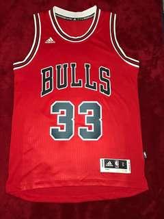 NBA Scottie Pippen 公牛 客製 作客 波衫 Adidas Swingman S碼 99%新