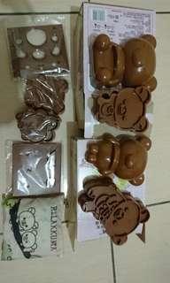 🚚 拉拉熊餅乾模具2組和環保袋1個