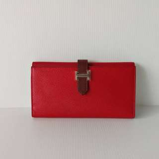 Authentic Hermes Bearn Wallet