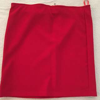 Red Bandeau Skirt