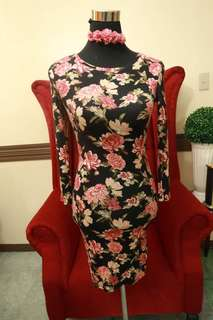 Forever 21 Floral Bodycon Dress