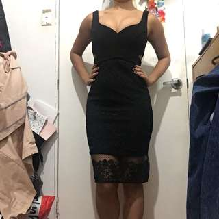 Forever New black lace cocktail dress