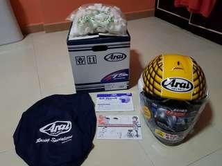 Arai helmet tiara racing ram4 XL 61.62cm, Dunlop trailmax 160/60