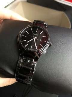Rado True 黑色陶瓷女裝手錶