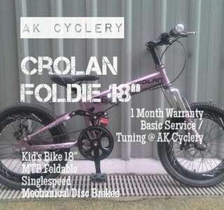 "🚚 Kid's Bicycle 18"" CROLAN Foldable Mountainbike"