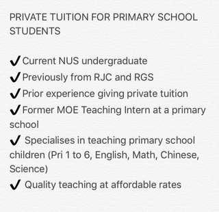 Private Tuition for Primary School Children