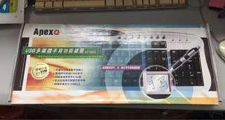 ApexQ USB多媒體手寫功能鍵盤