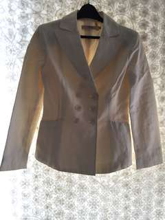 Valentino double breast creamy jacket