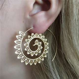 Spiral Piercing Dangle Earrings