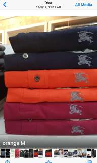Limited stock burberry men's polo tee S to XL