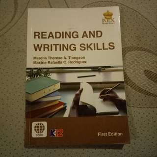 SENIOR HIGH SCHOOL Reading and Writing
