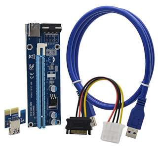 PCIE USB3.0 Riser Molex Powered Mining Rig