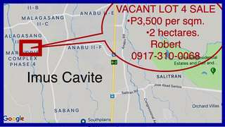 2-HECTARE LOT 4 SALE  P3,500 per sqm  - Imus Cavite