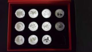 Perth Mint series 2 Lunar 1 oz silver coin set