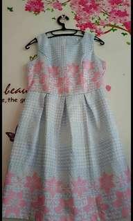 Dress Flower biru