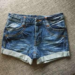True Religion inspired denim shorts
