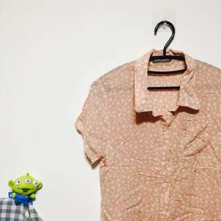 🚚 楓葉碎花棉質襯衫很涼快