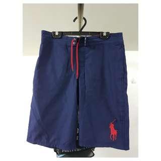 POLO 大馬 青年版 短褲 polo 海灘褲 深藍 紅馬 ralph lauren 小馬 ralphlauren
