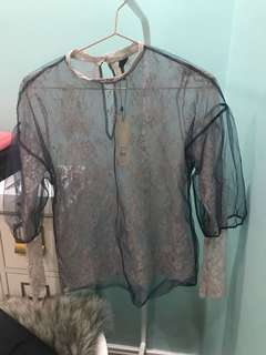BNWT Topshop Lace Top Size 2