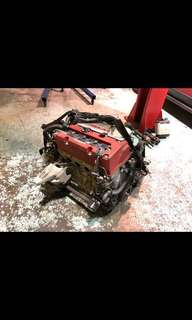 Honda Accord Euro R K series engine - Out of car