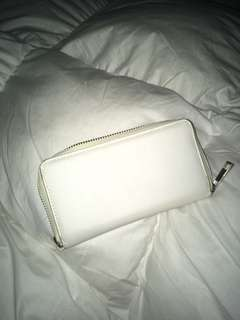 Cotton on white wallet