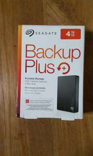 """Brand New sealed, never open. Seagate 4TB Portable External HDD Hard Disk Drive Backup Plus 4.0 TB external 2.5"""" Portable"""