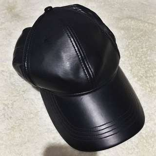 leather cap